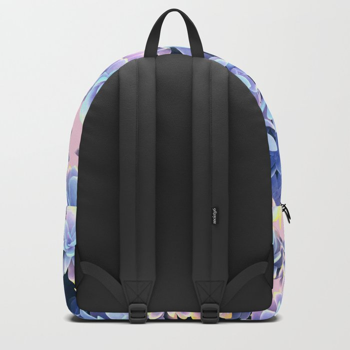 Cactus Fall - Blue and Pink Backpack