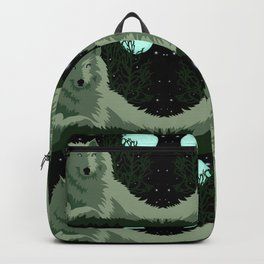 Wolf Vector Animals Backpack