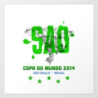 Rep Your City / Word Cup: Sao Paulo Art Print