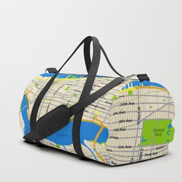 Manhattan Map Design Duffle Bag