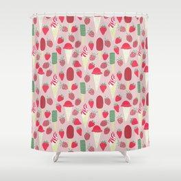 Berries&Cream Shower Curtain