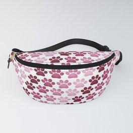 Paw Prints Pattern - Pink Fanny Pack