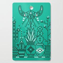 Santa Fe Garden – Turquoise & Black Cutting Board
