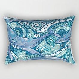 Whale! Rectangular Pillow
