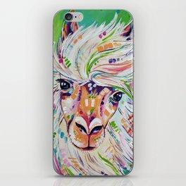 Hello - Alpaca Painting iPhone Skin