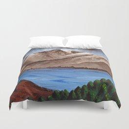 Serene Mountains Duvet Cover