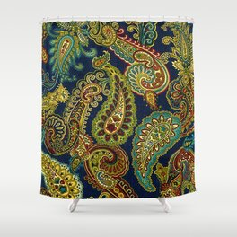 Floral Paisley Pattern 05 Shower Curtain