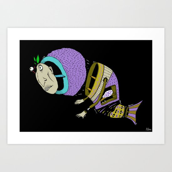 Monsta Fish Art Print