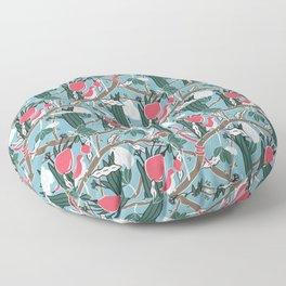 Hiding Birds Pink Floor Pillow