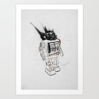 army Art Prints featuring robot army by Tom Kitchen