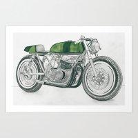 motorbike Art Prints featuring MOTORBIKE by EDENLAND