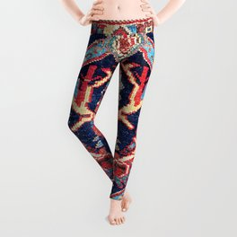 Afshar Kerman South Persian Bag Face Print Leggings