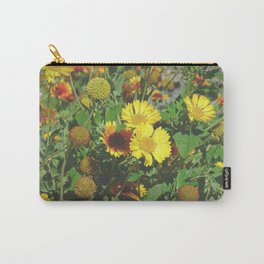 No garden like my mom's garden | Yellow Gaillardias | Blanket flowers | Nature Photography Carry-All Pouch