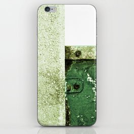 White Green Concrete iPhone Skin