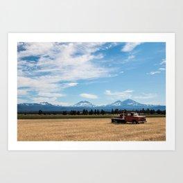 Ranch Truck outside of Sisters, Oregon Art Print