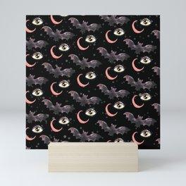 halloween bat pattern Mini Art Print