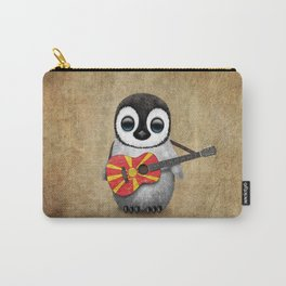 Baby Penguin Playing Macedonian Flag Acoustic Guitar Carry-All Pouch