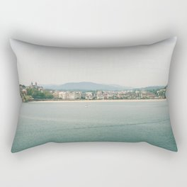 La Concha Beach, San Sebastian - Donostia-San, Spain III Rectangular Pillow
