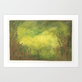 Greenscape Fantasy Foliage Art Print