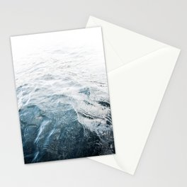 Blue Water | Landscape Photography | Blue | Ocean | Sea | Waves | Beach | Moody |Travel Stationery Cards