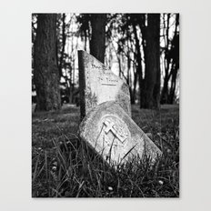 Memory destroyed Canvas Print