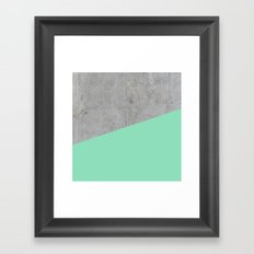 Concrete and sea Framed Art Print
