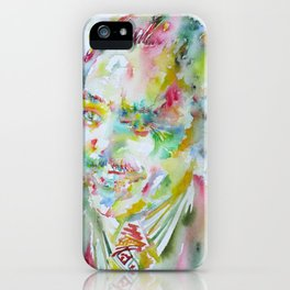 LANGSTON HUGHES watercolor portrait.3 iPhone Case