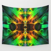 neon Wall Tapestries featuring Neon by Assiyam