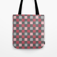 Red, White & Black Pattern Attack Tote Bag