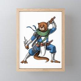 Otter Ninja  Framed Mini Art Print