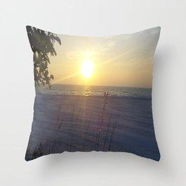 St. Pete Sunset I Throw Pillow
