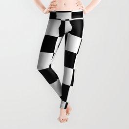 Black & White Checker Checkerboard Checkers Leggings