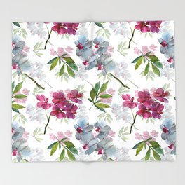 Orchid Throw Blanket