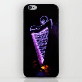Harp Energy III:  Pink and Blue Swirls iPhone Skin