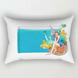 World travel Rectangular Pillow