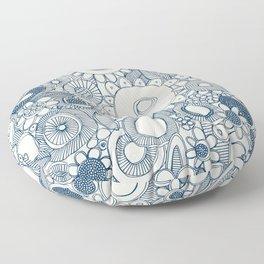 scramble blue pearl Floor Pillow