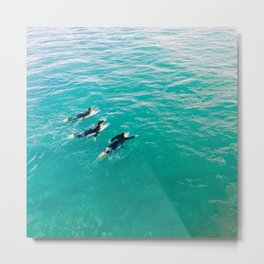 California Colors - Surfing - v8 Metal Print