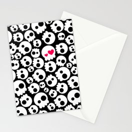 A skull in love Stationery Cards