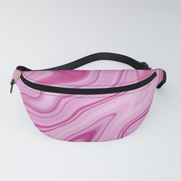 Pink Liquid Marble Fanny Pack