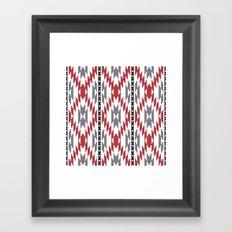 Ethnic rug pattern Framed Art Print