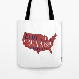 Land of the Free, USA, 4th of July RED Tote Bag