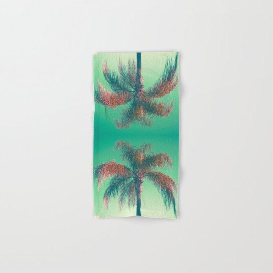 Red palm tree Hand & Bath Towel