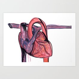 heart flow Art Print