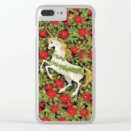 Christmas Unicorn Clear iPhone Case