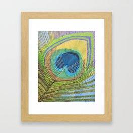 Peacock Feather Art, Peacock Decor, Feather Art Print, Abstract Art Print Framed Art Print