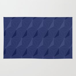 Deep blue star pattern Rug