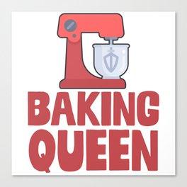 Baking Queen Canvas Print