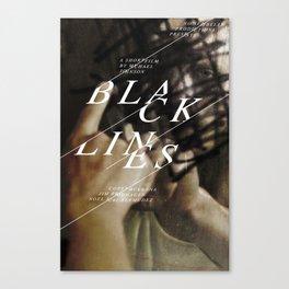 Black Lines 1 Canvas Print