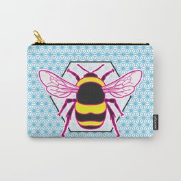 Geometric Bumblebee Carry-All Pouch