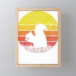Retro Squirrel Silhuette Sunset Vintage Safari Gift Framed Mini Art Print